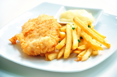 Fish Cake Calories Chip Shop